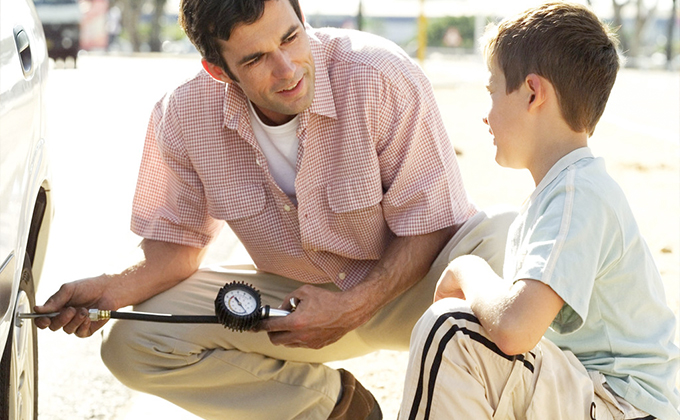 Tips for Dads:  Teaching Kids about Car Maintenance